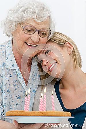 Tender grandmother and grandson