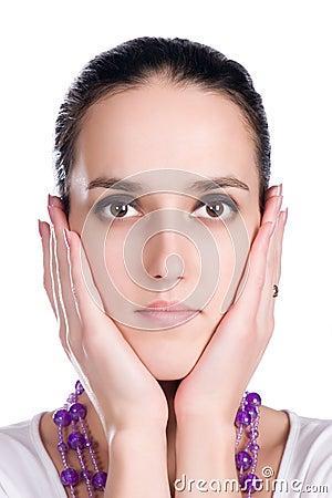 Tender woman face