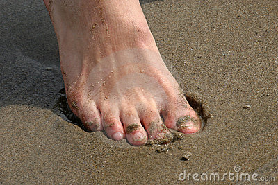 Tenen in Zand