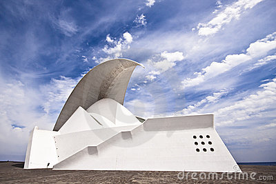 Tenerife Auditorium opera by Santiago Calatrava Editorial Stock Photo