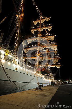 Free TENERIFE, SEPTEMBER 13: Mexican School Ship Docked At The Port O Royalty Free Stock Photos - 59628068