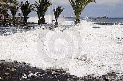 TENERIFE, SPAIN - AUGUST 29: Flooding Editorial Image