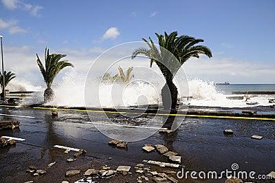 TENERIFE, SPAIN - AUGUST 29: Flooding Editorial Image