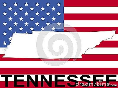 Tennessee on flag