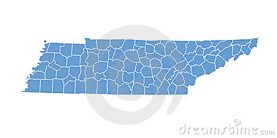 Tennessee State by counties