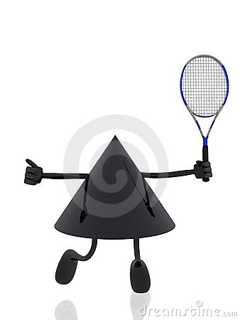 Tennis 3d Figure Stock Image - Image: 17829101