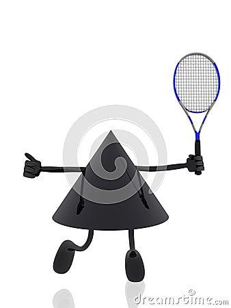 Tennis 3d figure