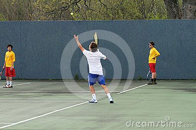 Tennis Action Editorial Image