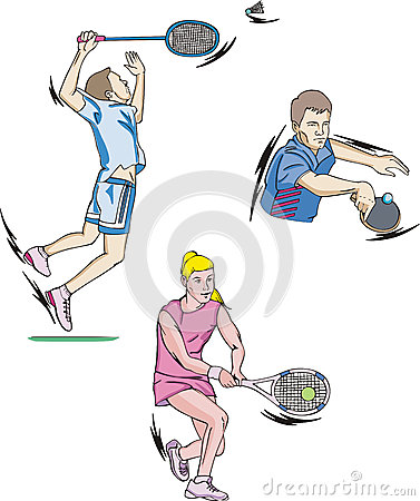 Free Tennis And Badminton Stock Images - 26341624