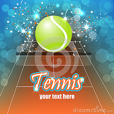 Tennis background with ball