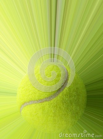 Tennis ball with action