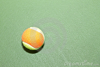Tennis Ball with Copy Space