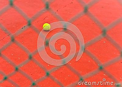 Tennis ball in a court