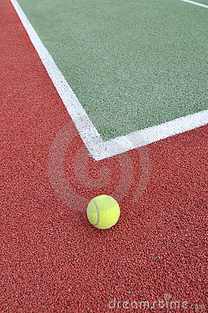 Tennis Ball on a Court