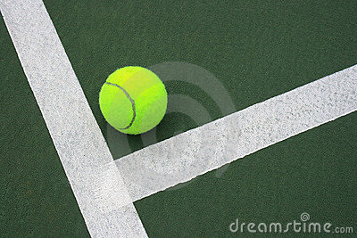 Tennis Ball On Court 2