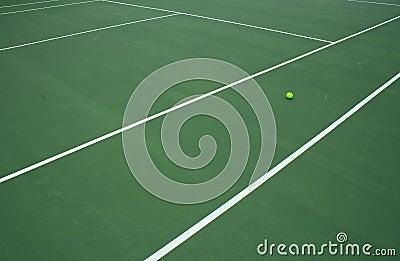 Tennis Ball On Court 4