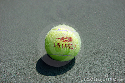 Tennis Ball (on the court (7) Editorial Stock Photo