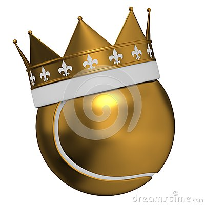Tennis ball and crown