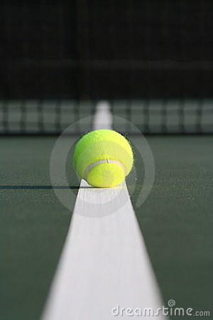 Tennis ball down the line
