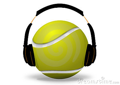 Tennis ball and headset
