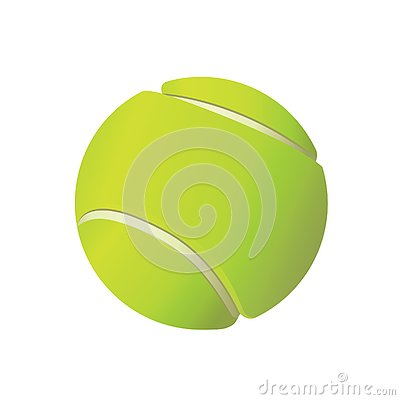 Free Tennis Ball Illustration On White Background Royalty Free Stock Photography - 130791147