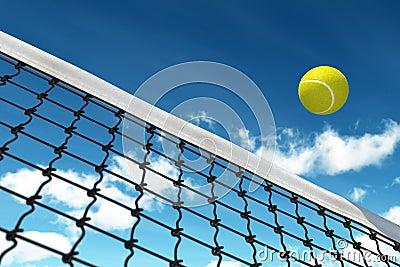 Tennis Ball over Net