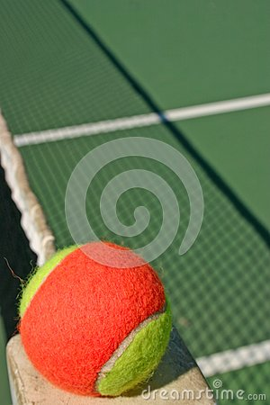 Tennis ball and shadow net