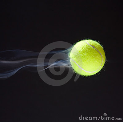 Free Tennis Ball Smoking Royalty Free Stock Images - 13757709