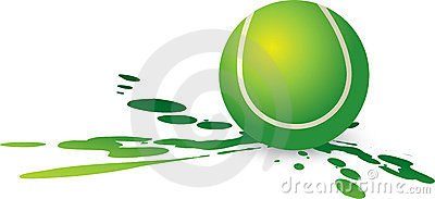 Tennis ball splat