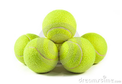 Tennis balls isolated