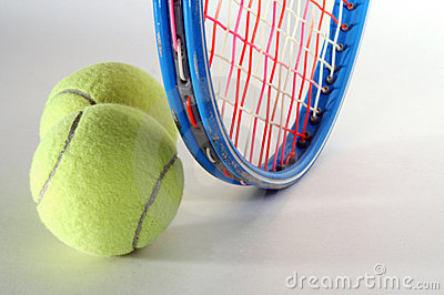 Tennis Balls and Raquet