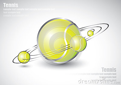 Tennis balls shaped like solar system