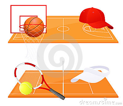 Tennis and basketball backgrounds