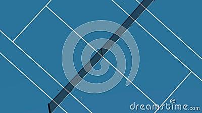 Tennis Blue Court stock footage