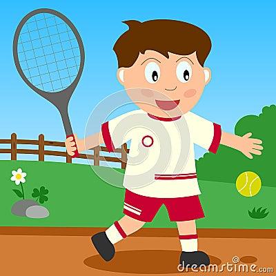 Tennis Boy in the Park