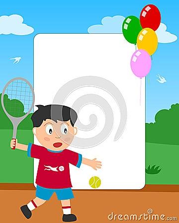Tennis Boy Photo Frame