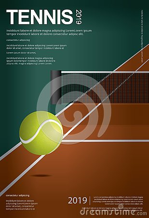 Free Tennis Championship Poster Stock Images - 144966864