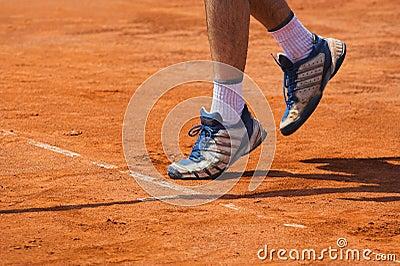 Tennis concept - serve