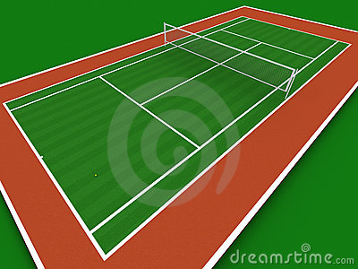 Tennis Court Royalty Free Stock Images - Image: 966779