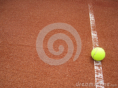 Tennis court line with ball (32)