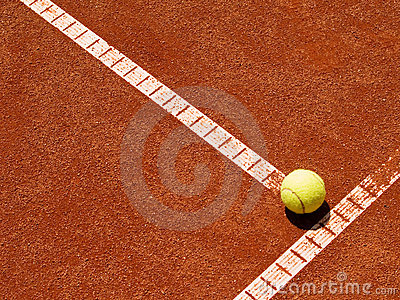 Tennis court line with ball 4