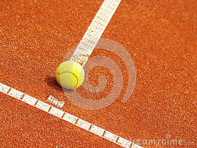 Tennis court line with ball (52)