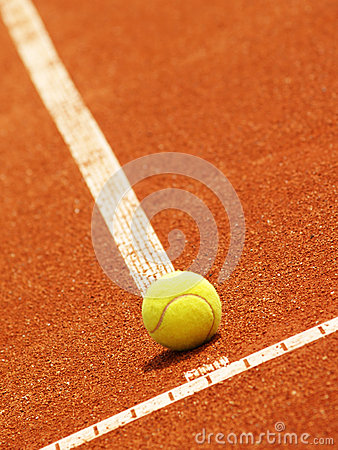 Tennis court line with ball )53)