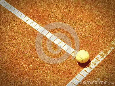 Tennis court line with ball (138)
