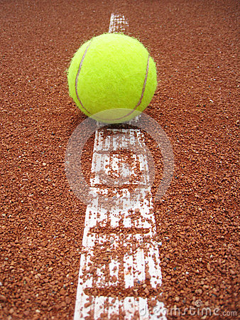 Tennis court line with ball (25)