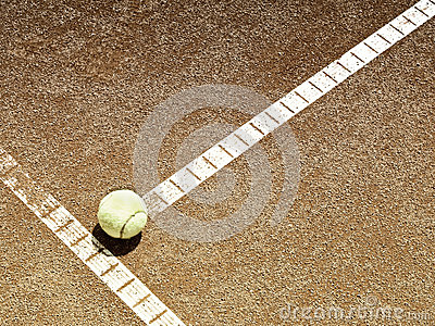 Tennis court line with ball (136)
