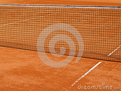 Tennis court line with net (68)