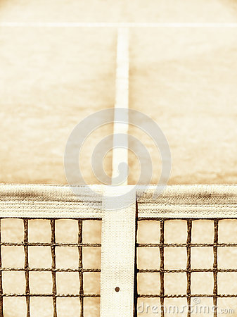 Tennis court with line and net (123)