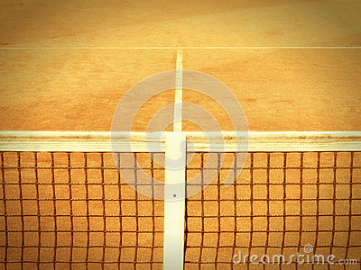 Tennis court with line and net  (122)