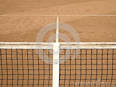 Tennis court with line and net  (120) old look